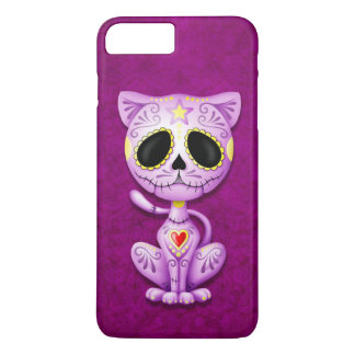 Purple Zombie Sugar Kitten iPhone 7 Plus Case