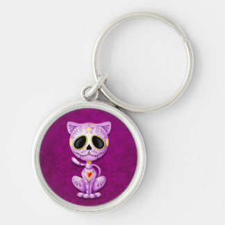 Purple Zombie Sugar Kitten Key Chains