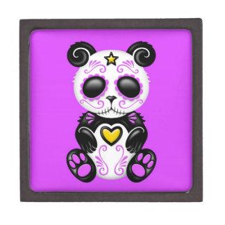 Purple Zombie Sugar Panda Keepsake Box