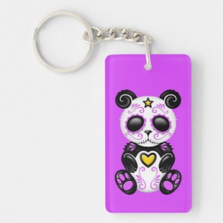 Purple Zombie Sugar Panda Keychains