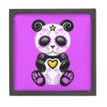 Purple Zombie Sugar Panda Premium Jewelry Box