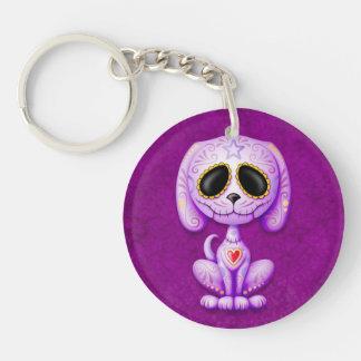 Purple Zombie Sugar Puppy Keychains
