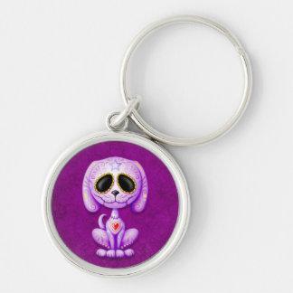 Purple Zombie Sugar Puppy Key Chain