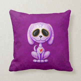 Purple Zombie Sugar Puppy Pillow