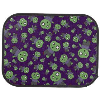 Purple zombies car floor mat