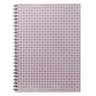 purpleandwhitepatterngrungepaper PURPLE WHITE GRUN Spiral Notebook