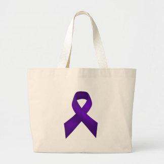 PurpleAwarenessRibbon jpg Bolsa De Mano