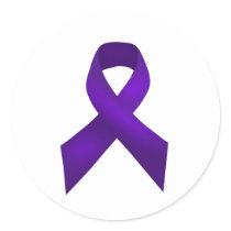 PurpleAwarenessRibbon.jpg Classic Round Sticker