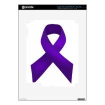 PurpleAwarenessRibbon.jpg Decal For iPad 3
