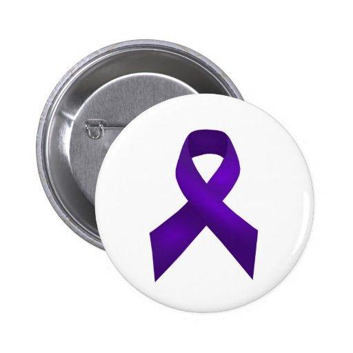 PurpleAwarenessRibbon.jpg Pinback Button