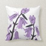 Purplebell Blossom Decor#12e Modern Throw Pillow