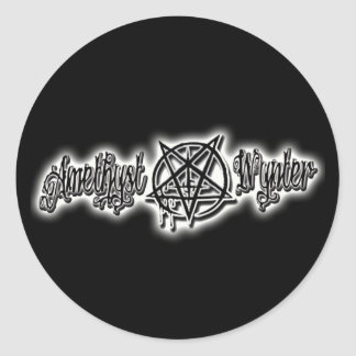 PurpleBlaZe Amethyst Wynter metal logo stickers