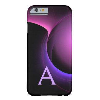 Purplecase negro vibrante del MONOGRAMA del