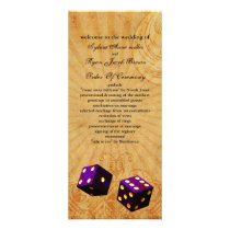 purpledice Vintage Vegas wedding program