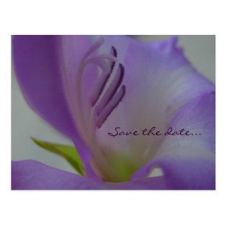 PurpleDreamFlower Save the date Postcard