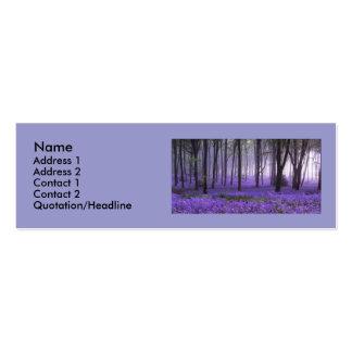 purpleforest, Name, Address 1, Address 2, Conta... Mini Business Card