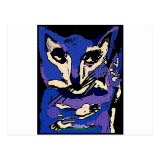 PurpleFox de Katie Pfeiffer Tarjetas Postales