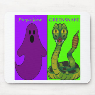 PurpleGhost&GreenSnake Mouse Pad