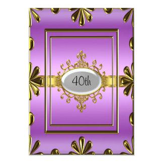 purpleGold púrpura de la invitación de la fiesta