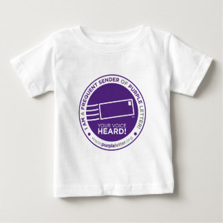 PurpleLetter_FrequentSender_Seal Baby T-Shirt
