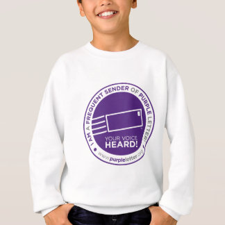 PurpleLetter_FrequentSender_Seal Sweatshirt