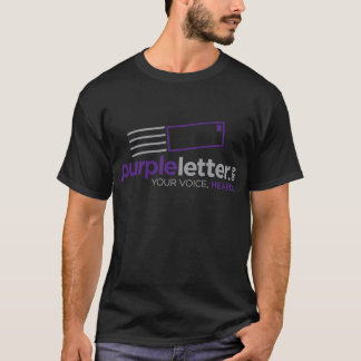 PurpleLetter_Logo+Tag T-Shirt