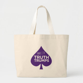 PurpleLetter_TruthTrumps Large Tote Bag