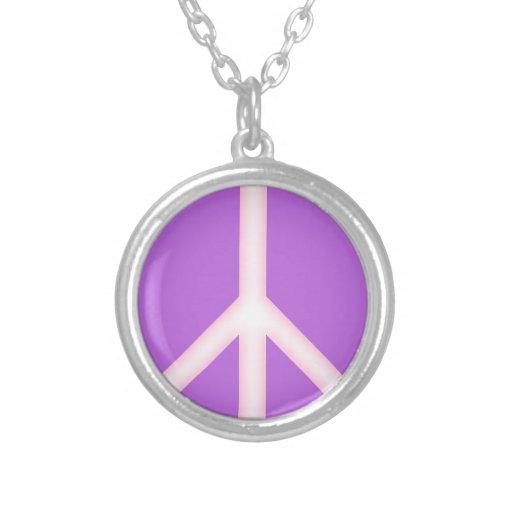 PurplePeace Sign Custom Necklace