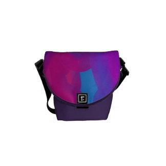 Purples & Blues Abstract Shoulder Bag #1 Courier Bag