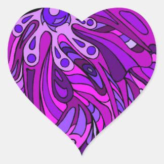 Purples Eight Heart Sticker