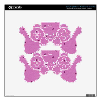 PURPLES PINKS HEARTS HEART SHAPES RANDOM PATTERN S PS3 CONTROLLER DECALS
