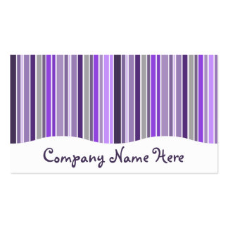 purples : striped curtain Double-Sided standard business cards (Pack of 100)