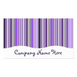 purples : striped curtain business cards