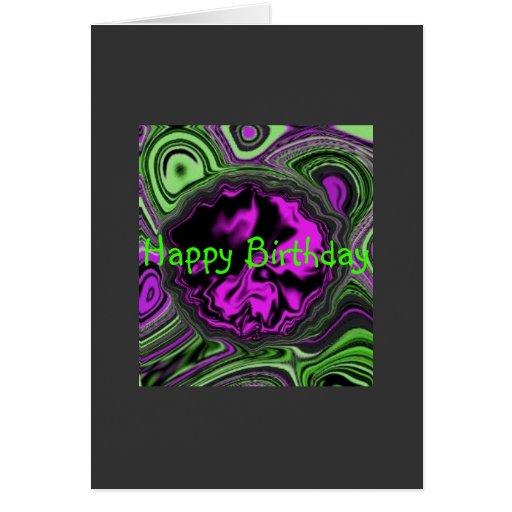 purplesatin, feliz cumpleaños tarjeta de felicitación