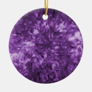 Purplescape Collectible Double-Sided Ceramic Round Christmas Ornament