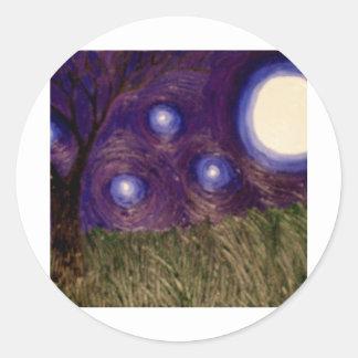 purplesky etiqueta redonda