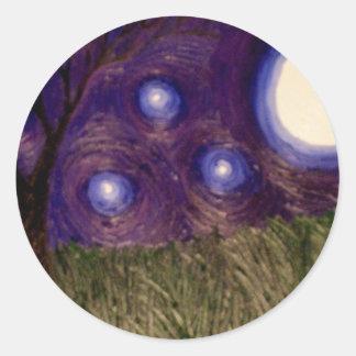 purplesky pegatina redonda