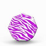 PurpleWhiteZebraStripes.jpg Acrylic Award
