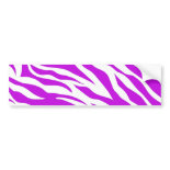 PurpleWhiteZebraStripes.jpg Bumper Sticker