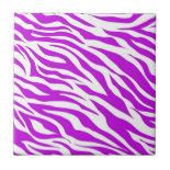 PurpleWhiteZebraStripes.jpg Ceramic Tiles