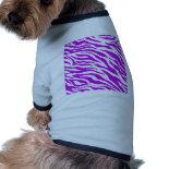 PurpleWhiteZebraStripes.jpg Dog T Shirt