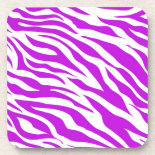 PurpleWhiteZebraStripes.jpg Drink Coasters