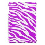 PurpleWhiteZebraStripes.jpg iPad Mini Covers