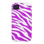 PurpleWhiteZebraStripes.jpg iPhone 4/4S Covers