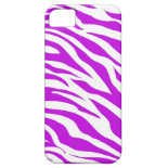 PurpleWhiteZebraStripes.jpg iPhone 5 Cases