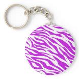 PurpleWhiteZebraStripes.jpg Key Chains