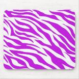 PurpleWhiteZebraStripes.jpg Mousepad