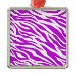 PurpleWhiteZebraStripes.jpg Ornament