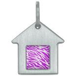 PurpleWhiteZebraStripes.jpg Pet ID Tag