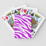PurpleWhiteZebraStripes.jpg Poker Deck